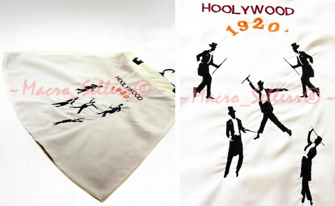 Biela sukňa výšivky HOLLYWOOD 1920 Pin UP RETRO