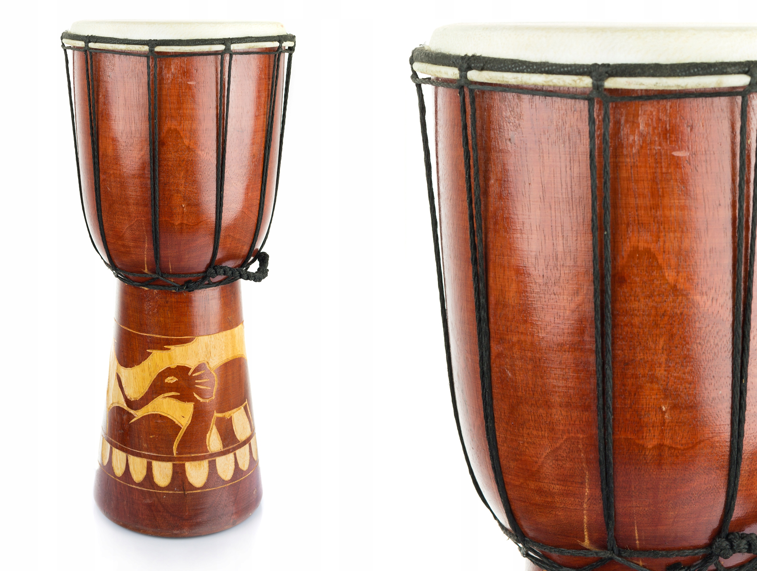 Item Carved DJEMBE DRUM HEIGHT. 40cm