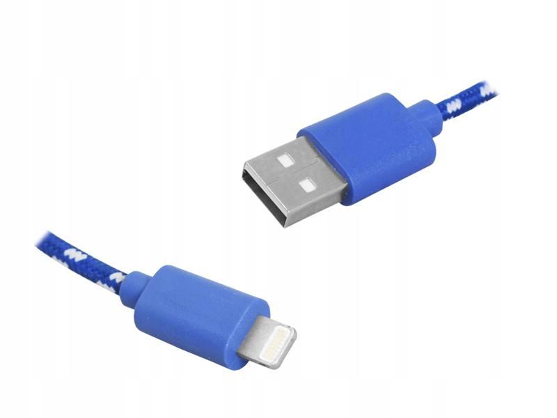 Kabel Usb - Iphone, 1M, Niebieski
