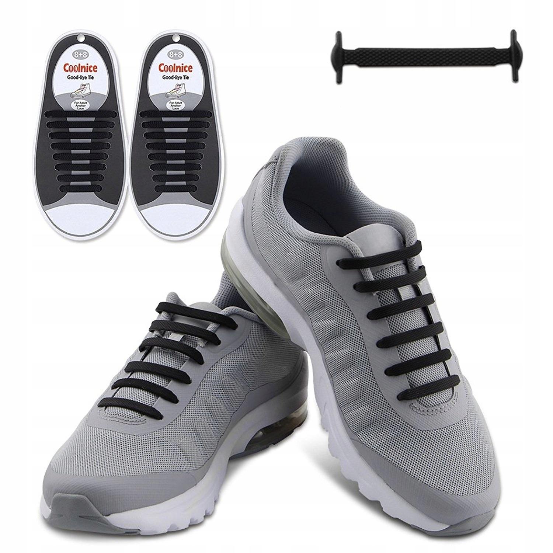 Шнурки x16 силиконовые без привязки 13 ЦВЕТОВ