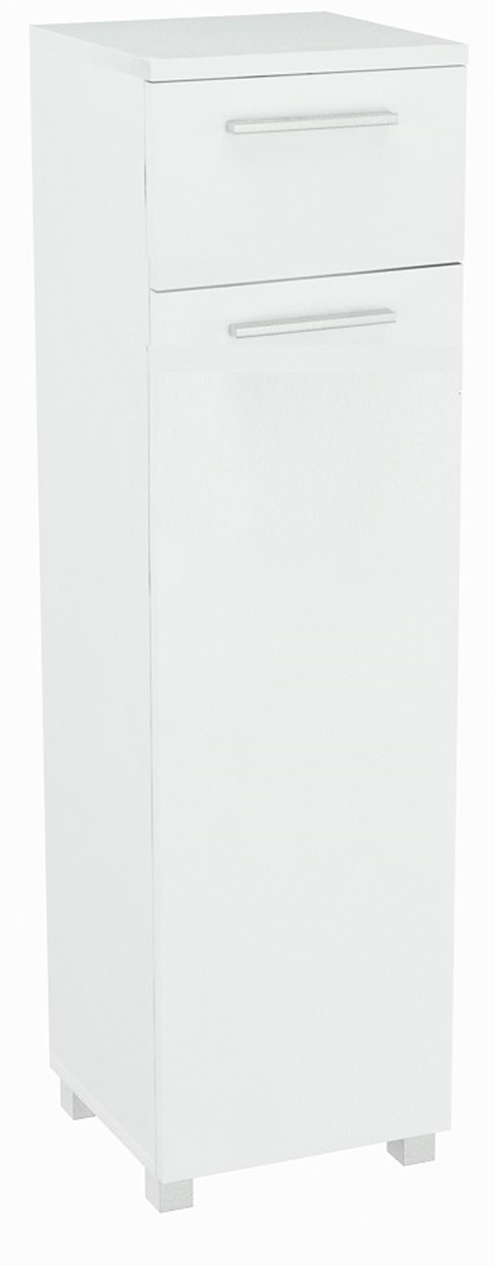 Stojan pre kúpeľ 1D1SZ1K s kôš BIELY toaletný stolík
