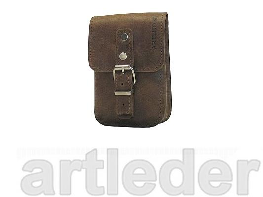 Sasha kožené tašky na opasok, dokumenty, telefón, retro