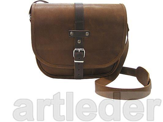 Kožená kabelka retro kožená poštárka Poľsko