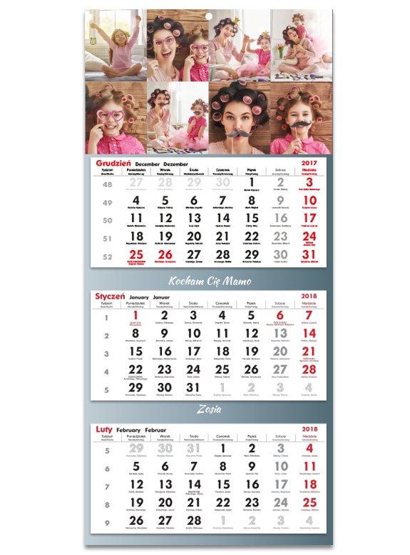 Item Photo Calendar Trójdzielny 2020 Your Picture