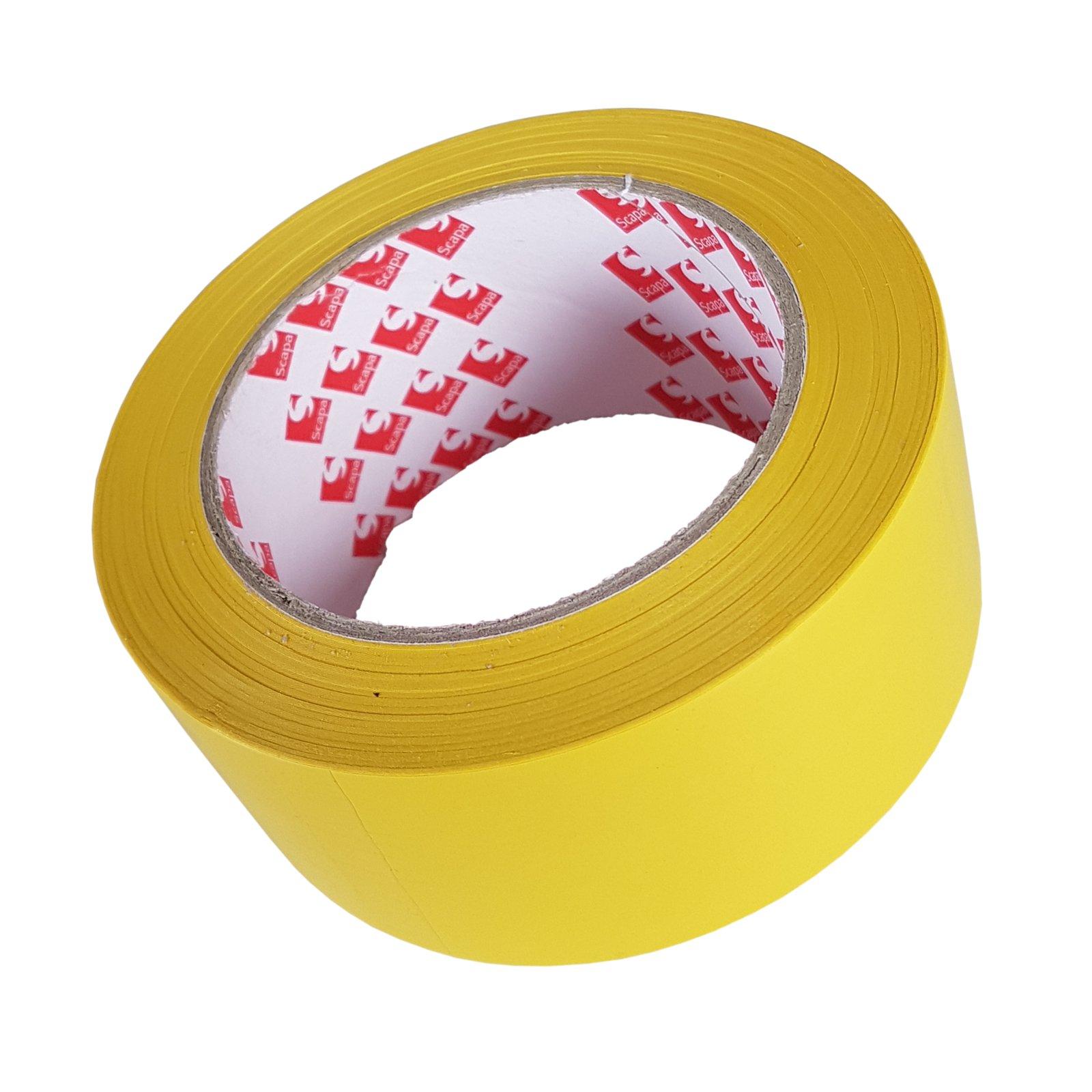 лента маркировочный модуль предупреждения Скапа 50 мм /33м желтая