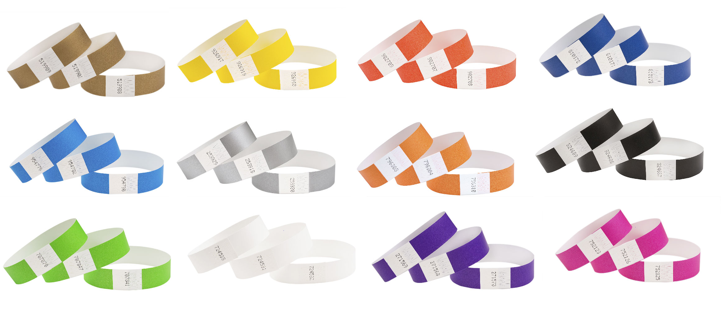 Item Tyvek wristbands 500 PCs 19mm Disco FREE SHIPPING