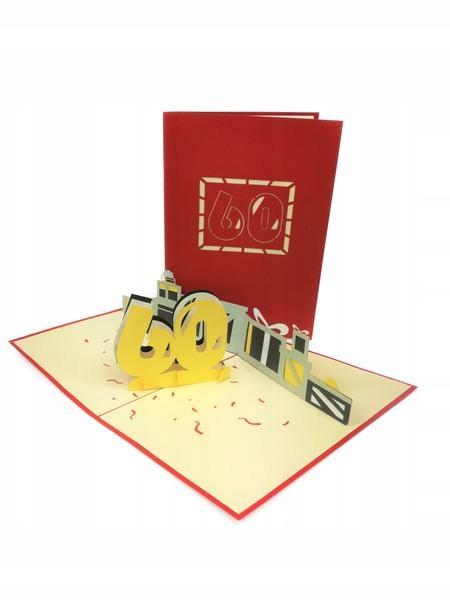 Item 60th Birthday GrandGift Greeting Card 3D Gift