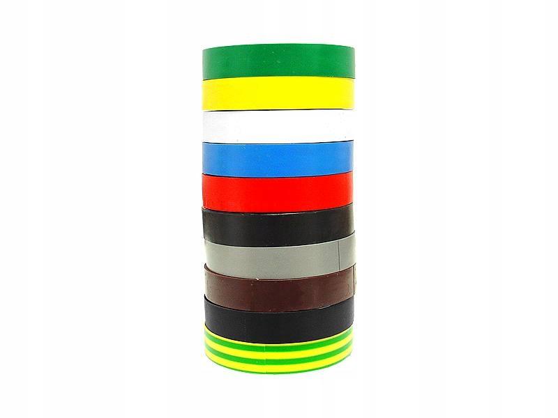 Лента изоляционная 25м многоцветные 10шт