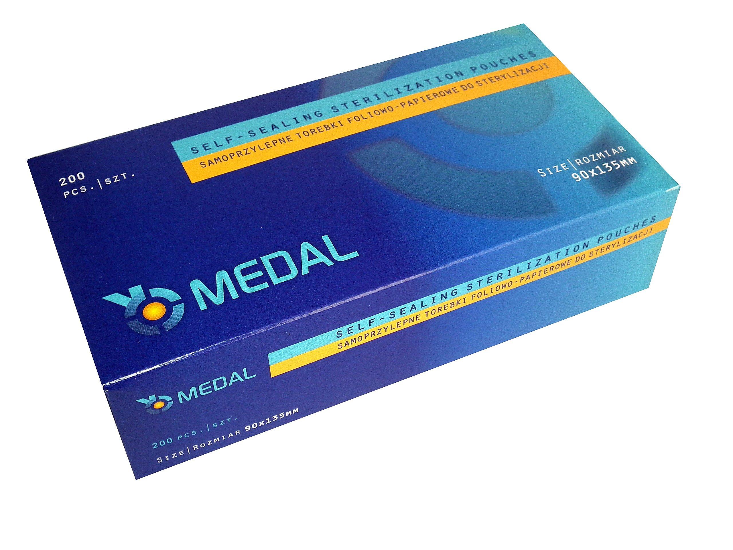 Item PACKAGES FOR STERILIZATION 90mm x 135mm MEDAL 200 PCs