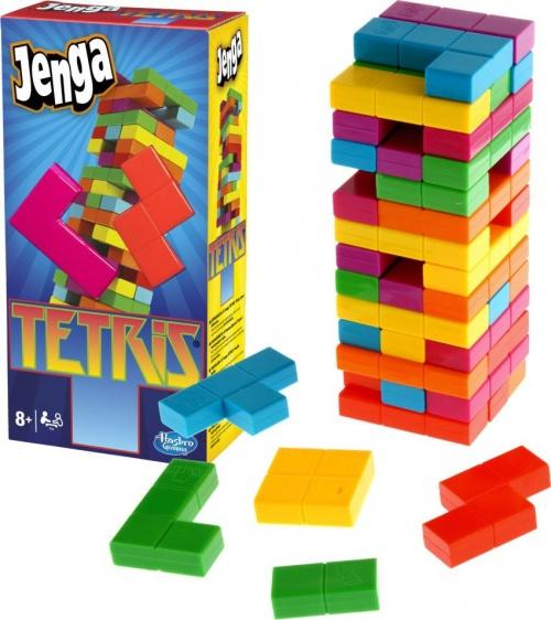 Hasbro hra Jenga Tetris Farebné veža Reklamná TV
