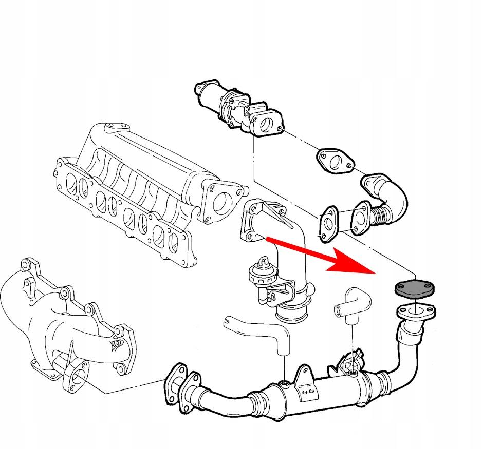 003 Zaślepka EGR FIAT ALFA LANCIA JTD 1.9 8V 2.4