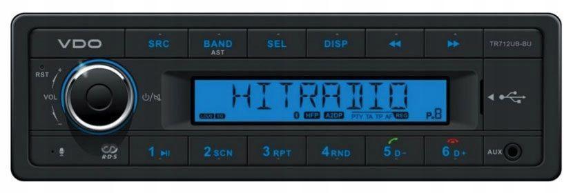 VDO TR712UB-BU rádio, Bluetooth Retro
