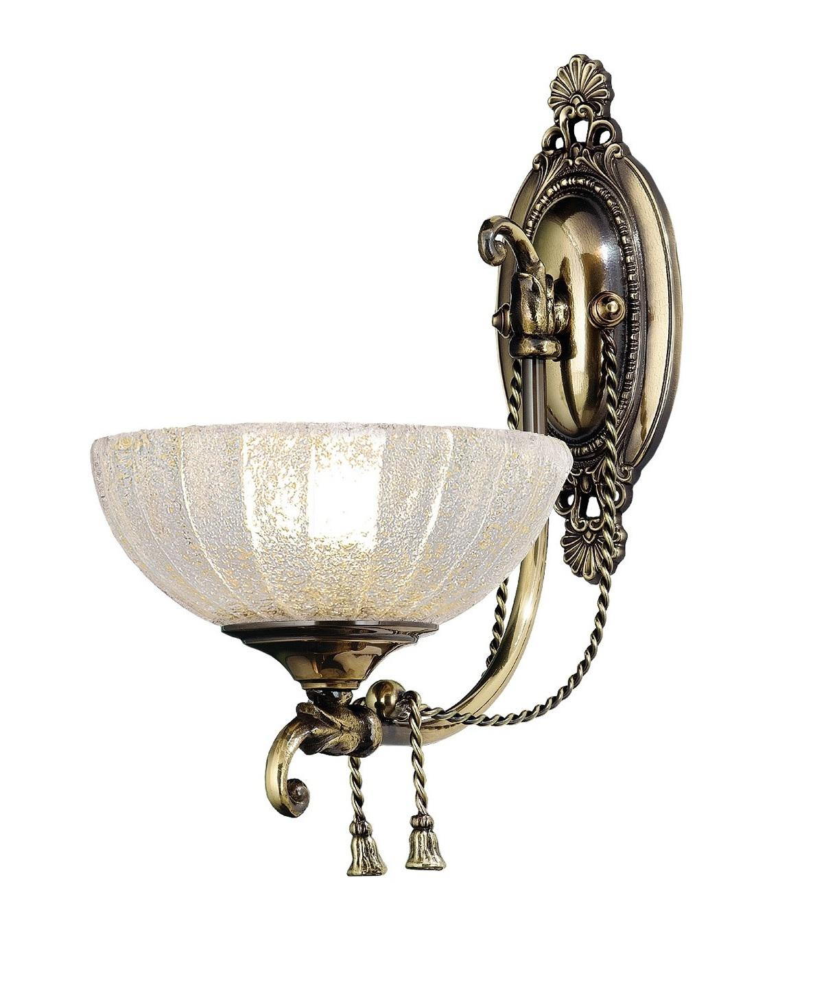Sconce Lampa Klasické Mosadzné Amplex Granada