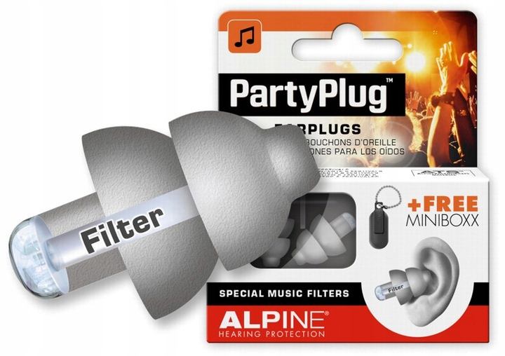 Item ALPINE PARTY PLUG SILVER FAST SHIPPING /PAHS