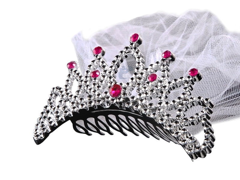 Item CROWN WITH VEIL FOR BACHELORETTE PARTY TIARA VEIL
