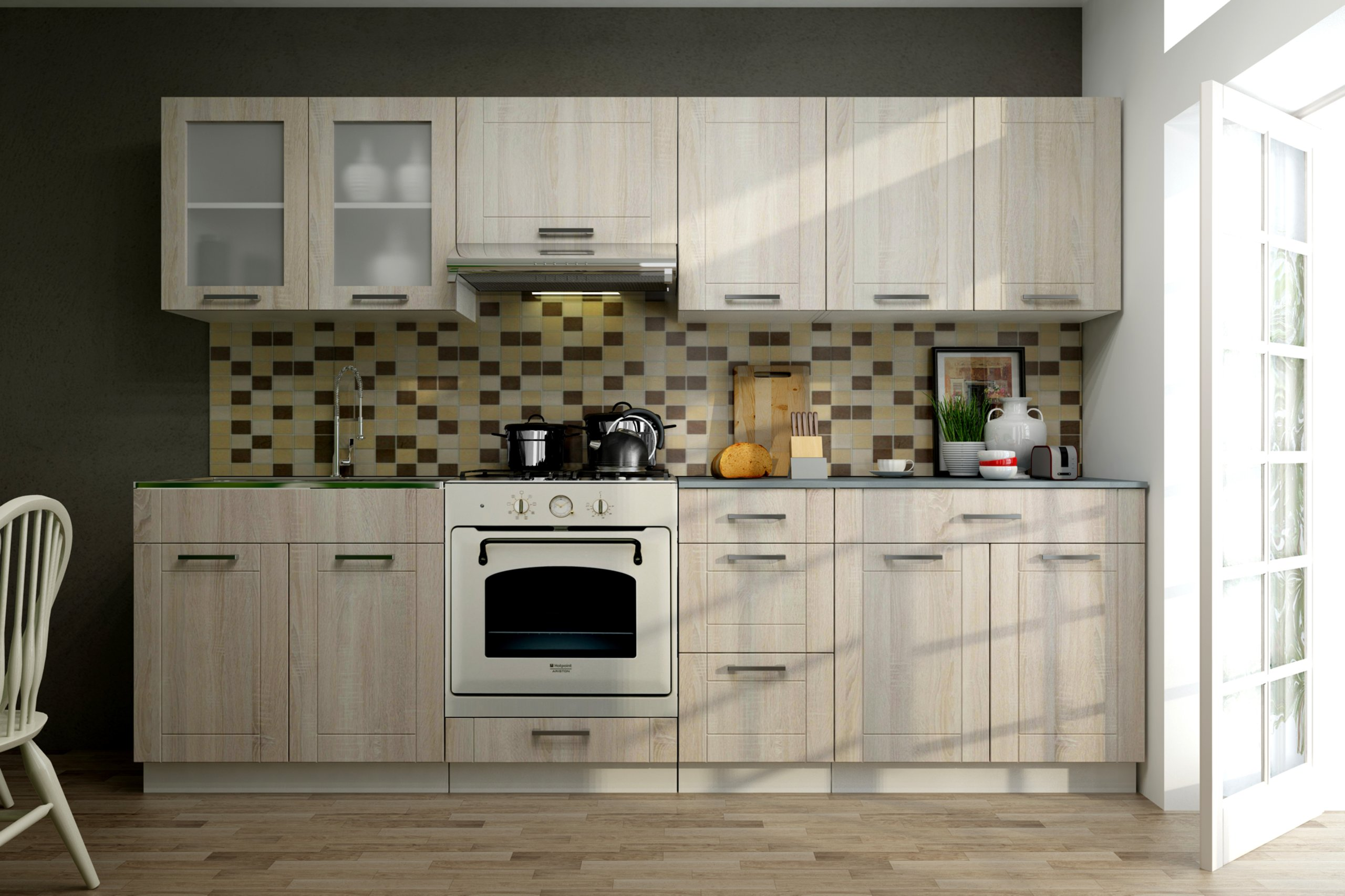 Kuchynský nábytok, kuchyne MONICA 2,6 m kuchynskej linky
