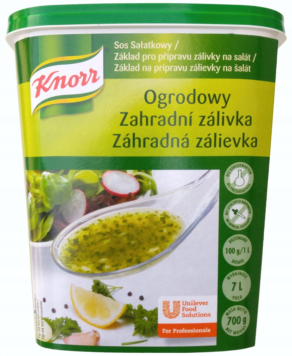 Item Knorr salad dressing Garden 700g