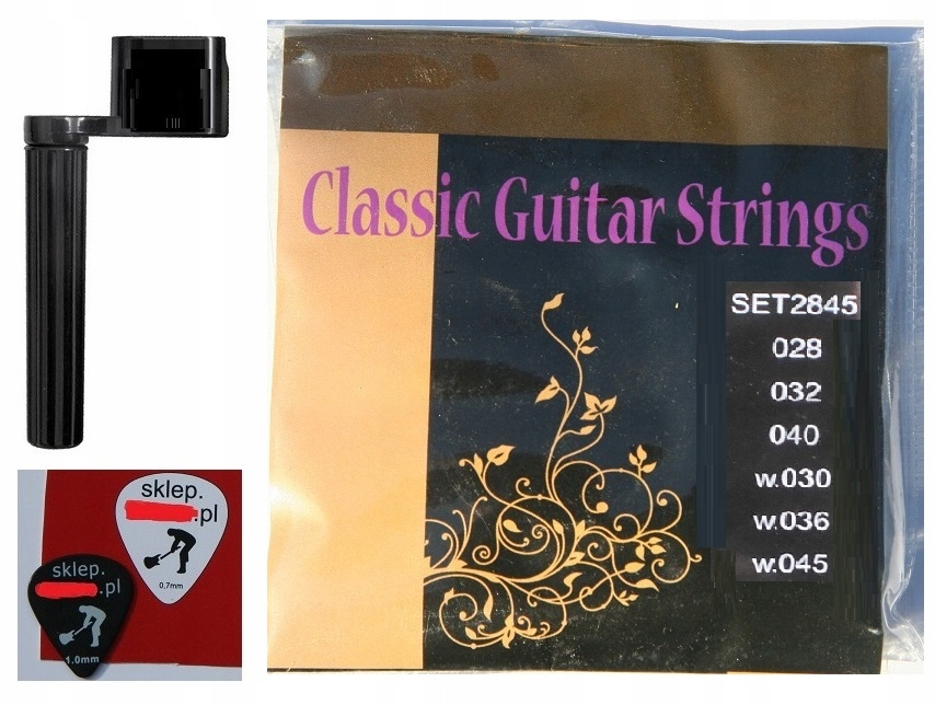 Item STRINGS FOR CLASSICAL GUITAR NYLON + PEN