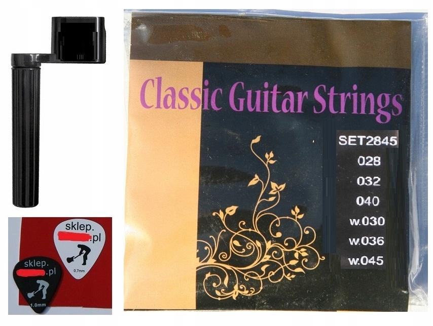 Item STRINGS FOR CLASSICAL GUITAR NYLON + PEN