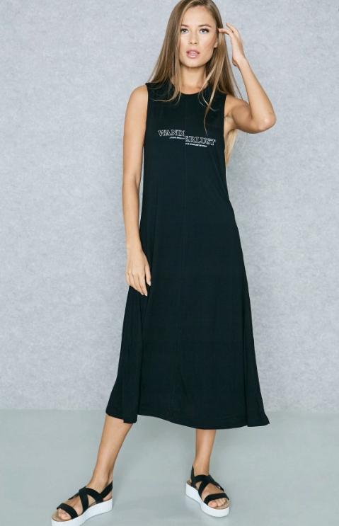 Mango czarna dresowa sukienka midi Tshirt dress Xs