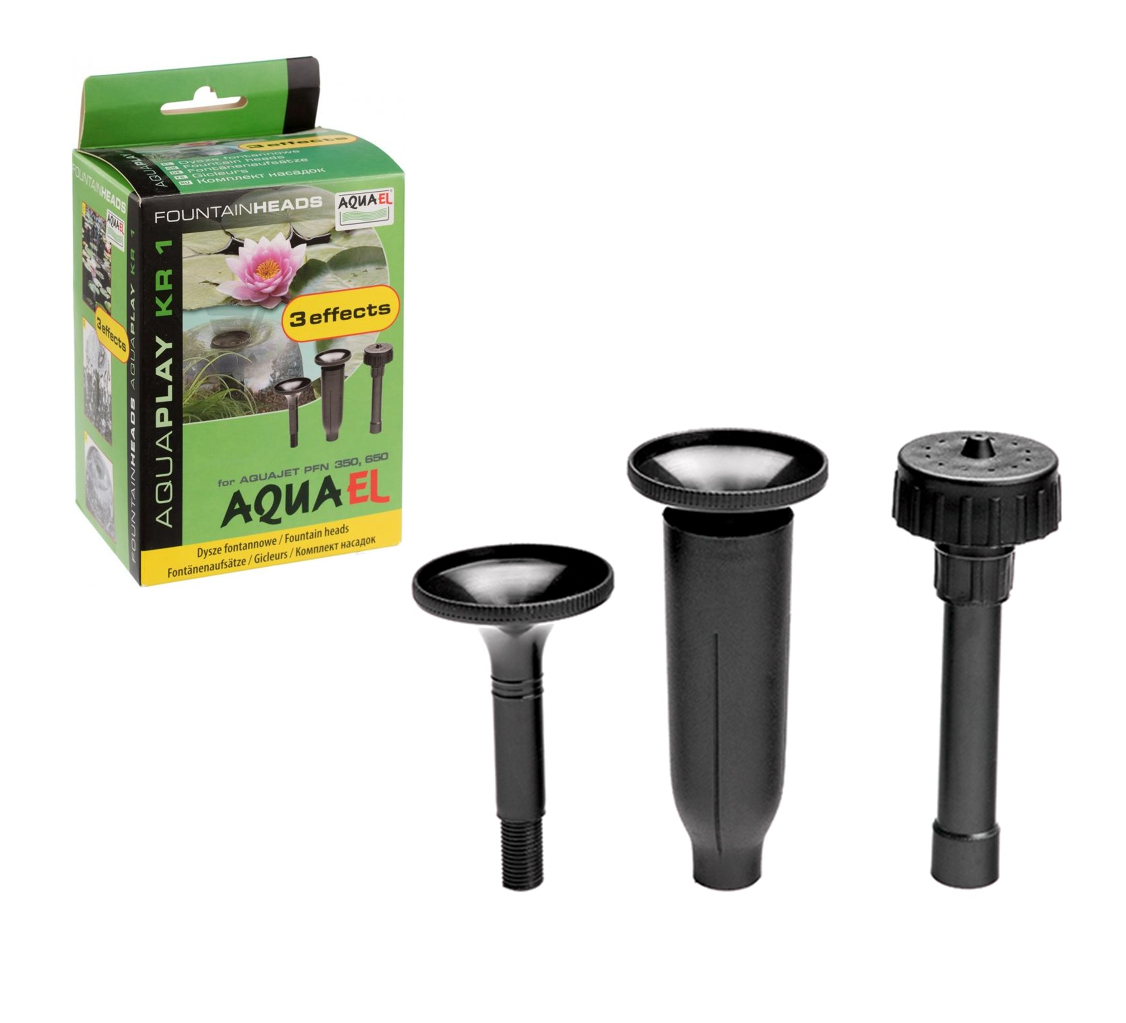 AQUAEL - KR-1 - Фонтанные насадки - 3 наконечника