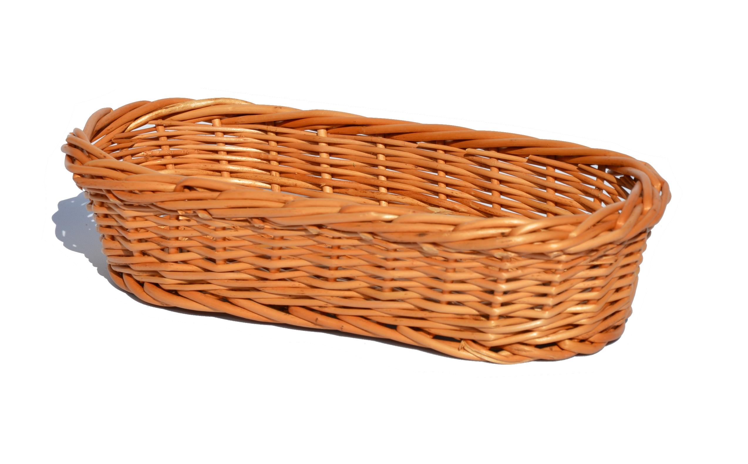 Prútený podnos pre príbory na chlieb 25x13 cm