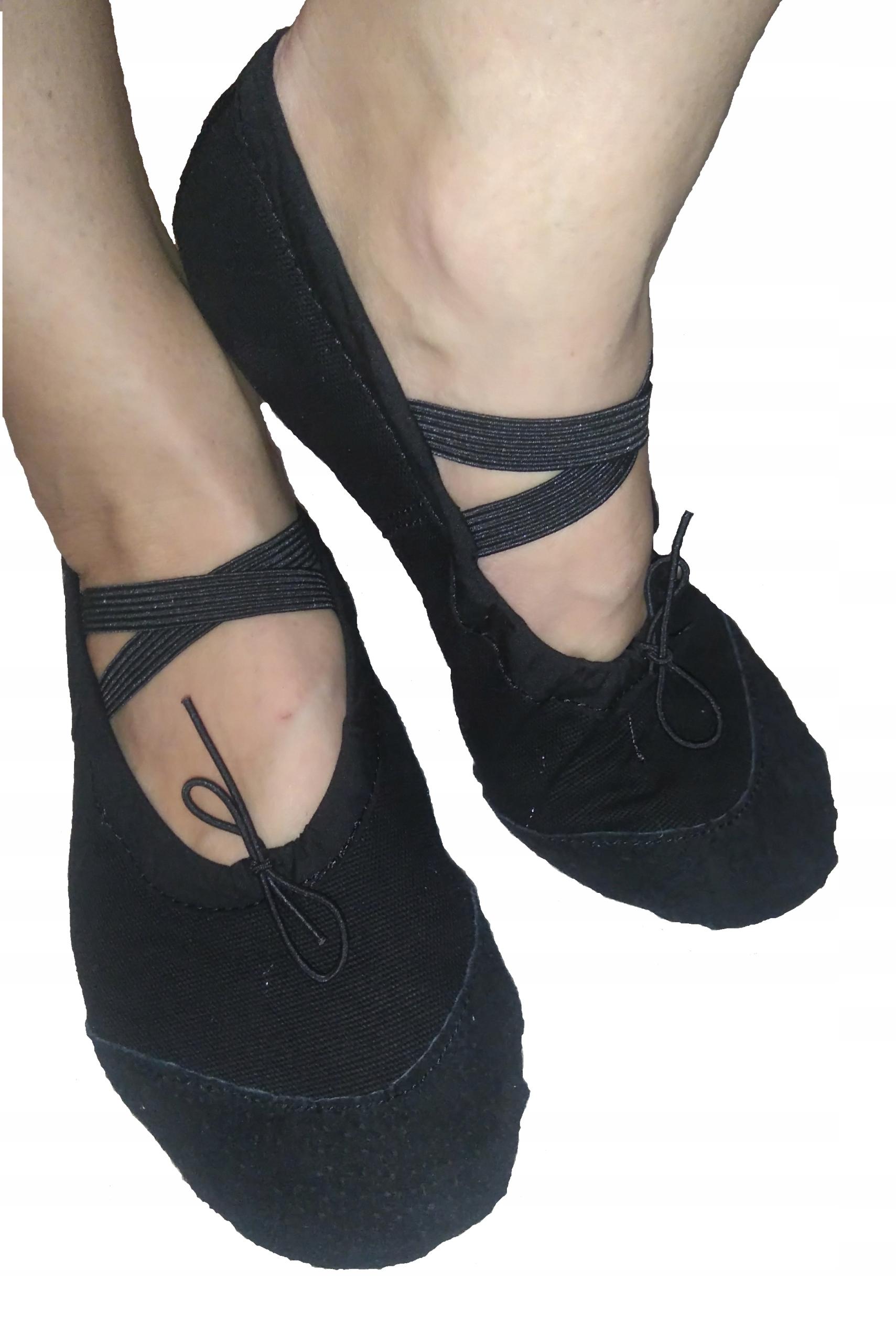 BALETKI Balerinki do tańca baletu KOLORY 30 czarne