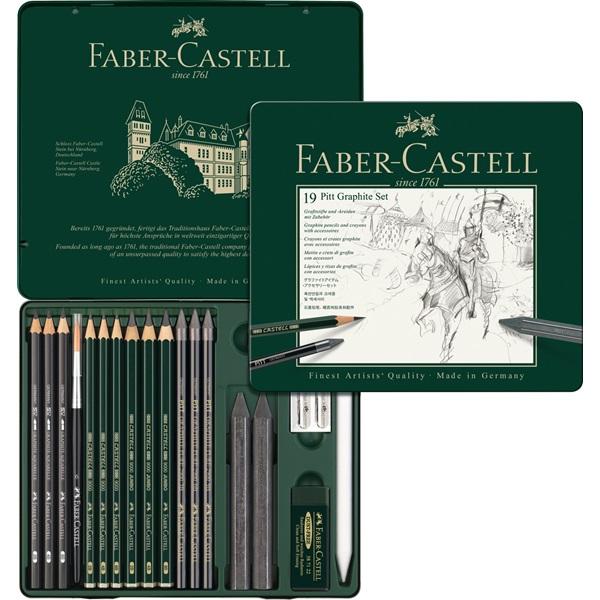 Súbor grafitové ceruzky a FABER-CASTELL 19el KOVOV