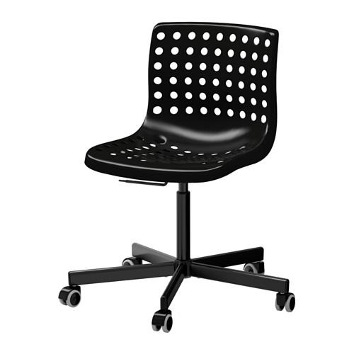 IKEA otočná stolička SKALBERG / SPORREN čierna