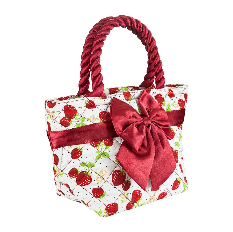 Симпатичная сумочка в клубника для девочки НИНА
