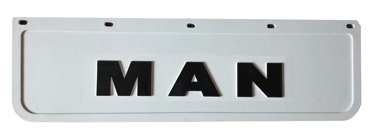 брызговик man фартук белый штампованная chlapak 60x18