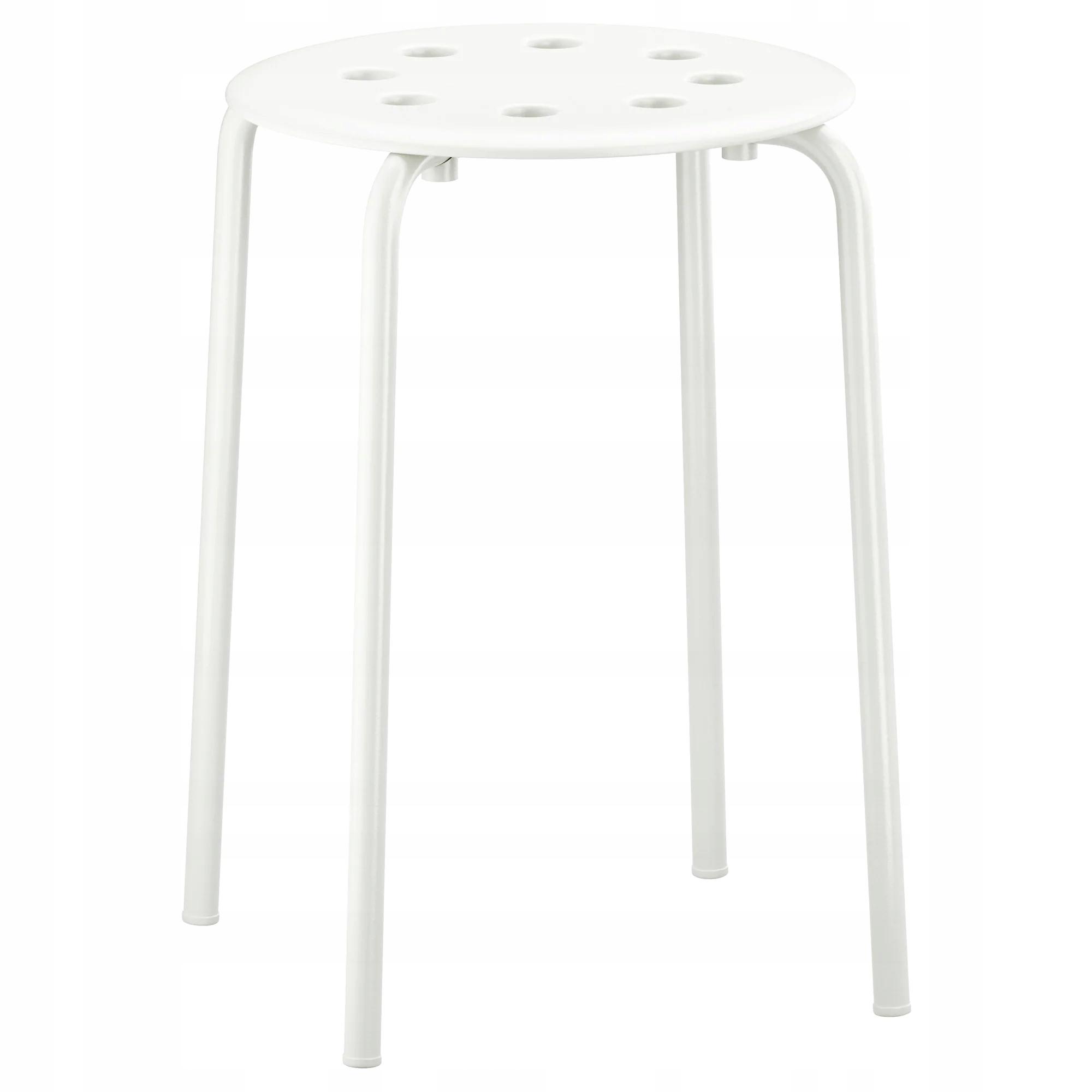 IKEA MARIUS Stołek Taboret Krzesło Kuchenne BIALY
