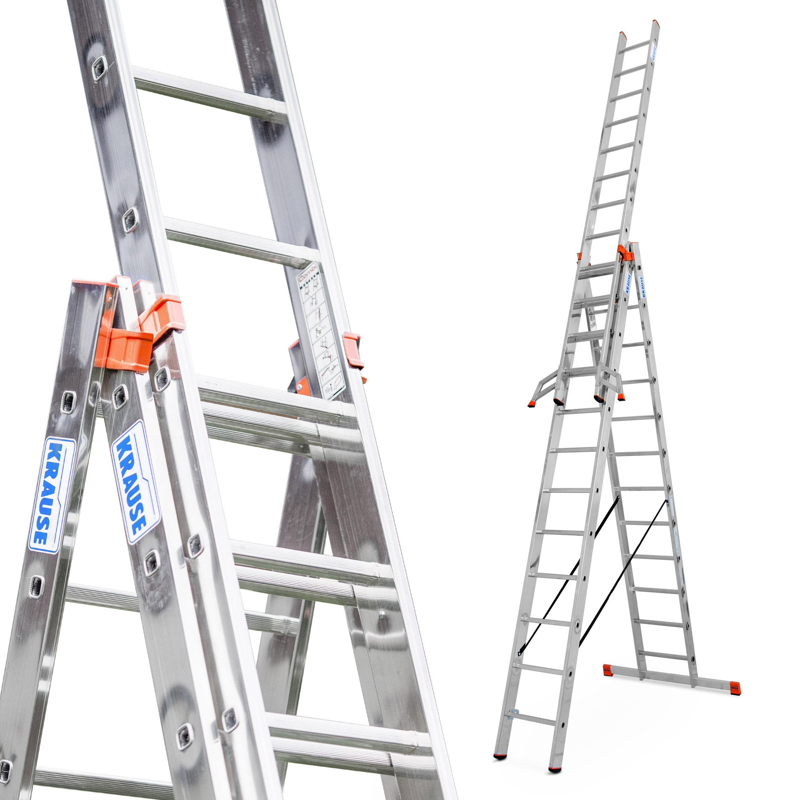 Лестница алюминиевая 3x12 Краузе PROFESSIONAL+TRIGON