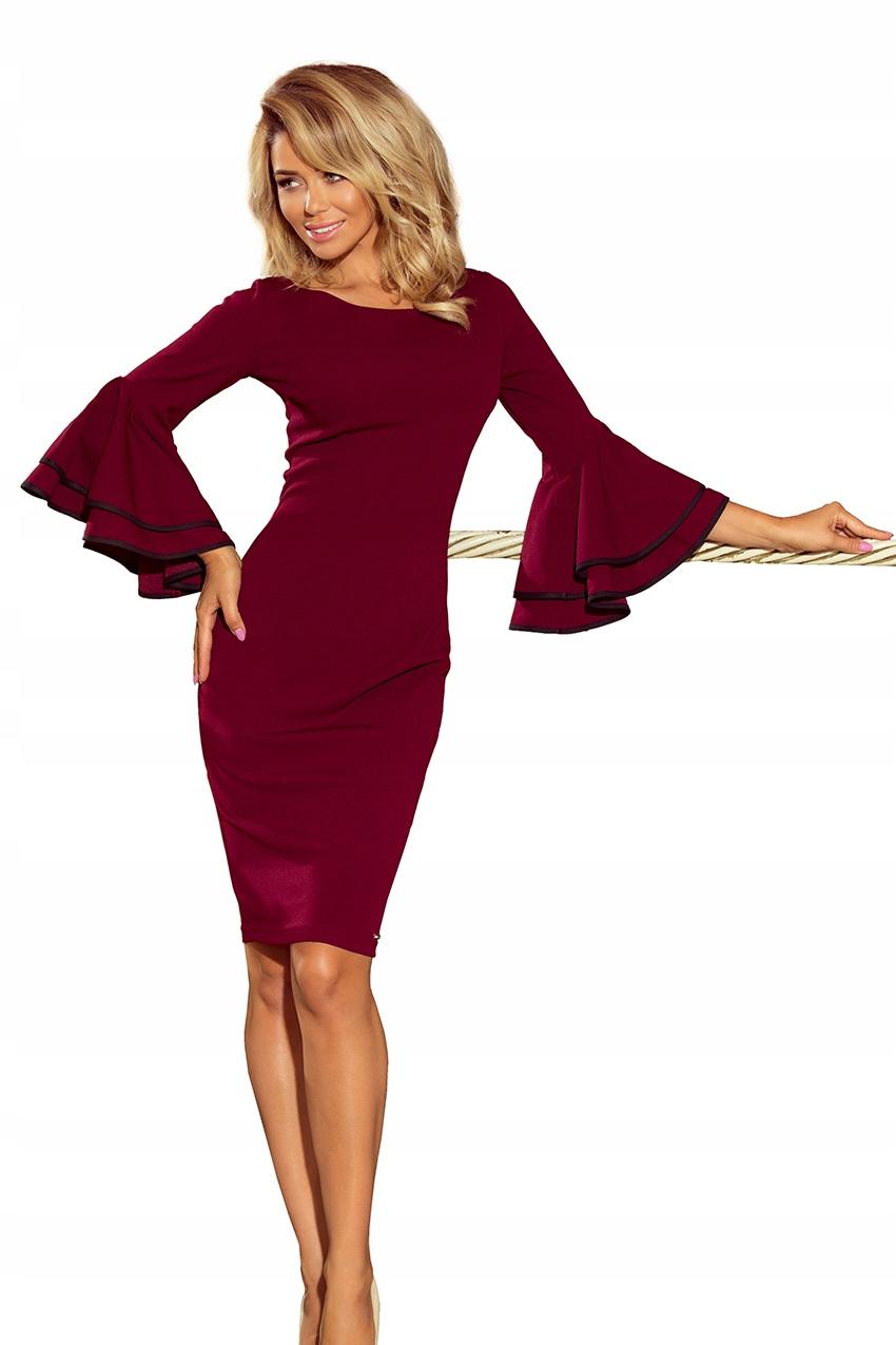 zjawiskowa sukienka hiszpanka rękawy falbanki XXL