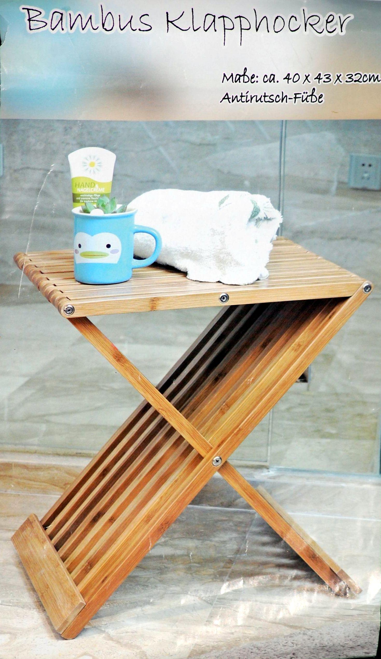 Stolička SKLADACIA stolička pre kúpeľ BAMBUSU