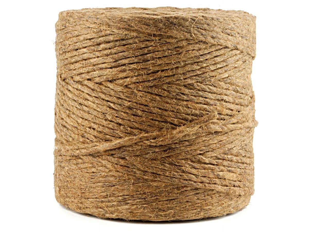 500m шнурок декоративный конопли из джута шпагат 2 ,5 мм