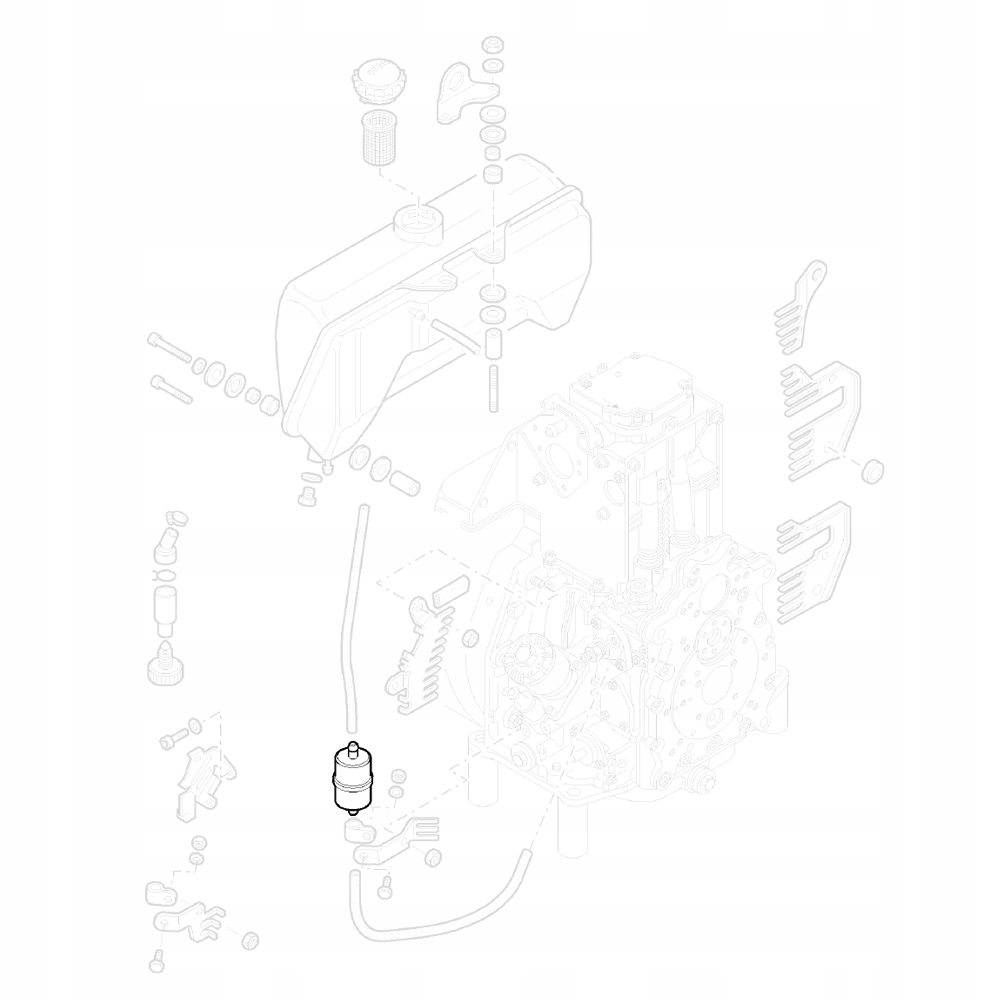 HATZ 50478800 Топливный фильтр СЕРИИ 1D И 1B