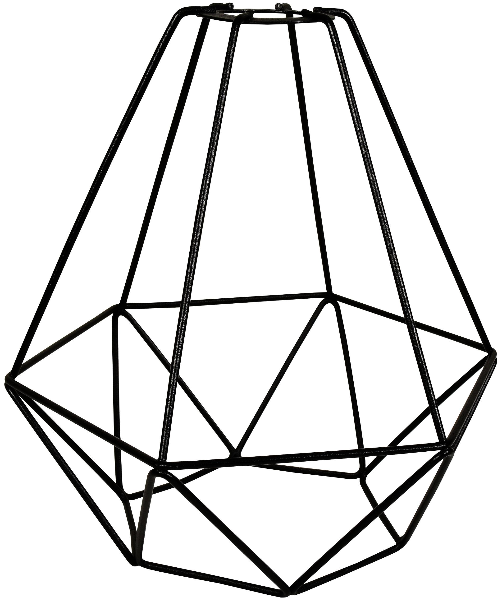 АБАЖУР ИЗ ПРОВОЛОКИ металлический loft E27 Черный
