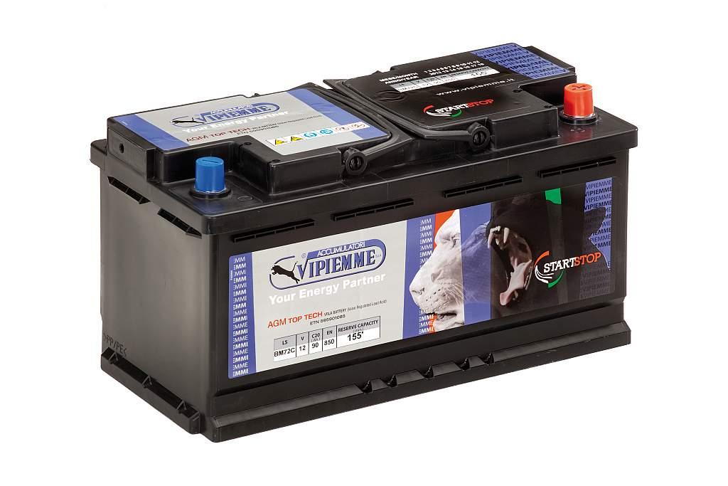 аккумулятор agm vrla start-stop 12v 90ah 850a fv gw