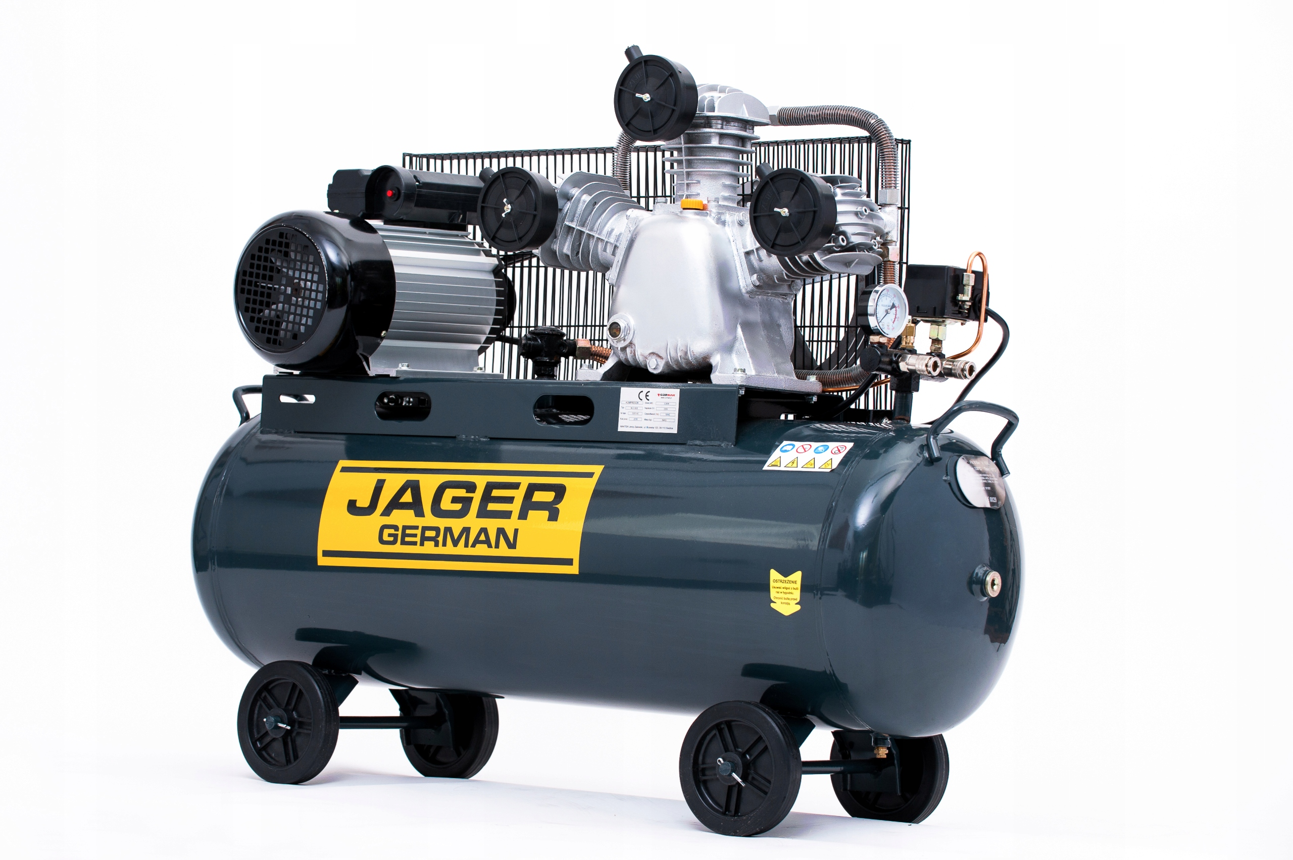 kompresor sprężarka 100l 499l/Min 230V Jager WR