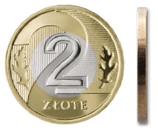 2 zł złote 2009 mennicza mennicze