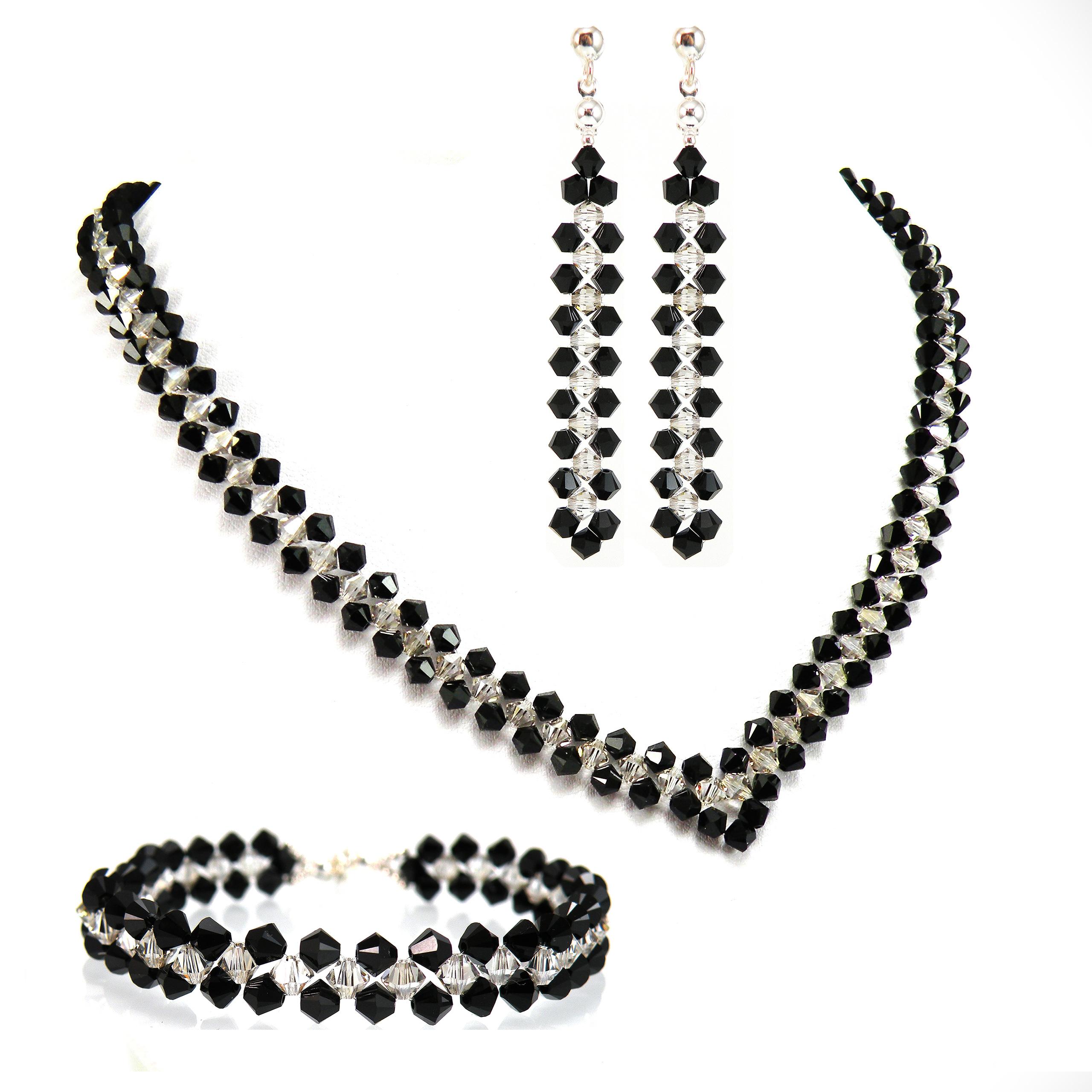 Set SWAROVSKI crystal čierne šaty