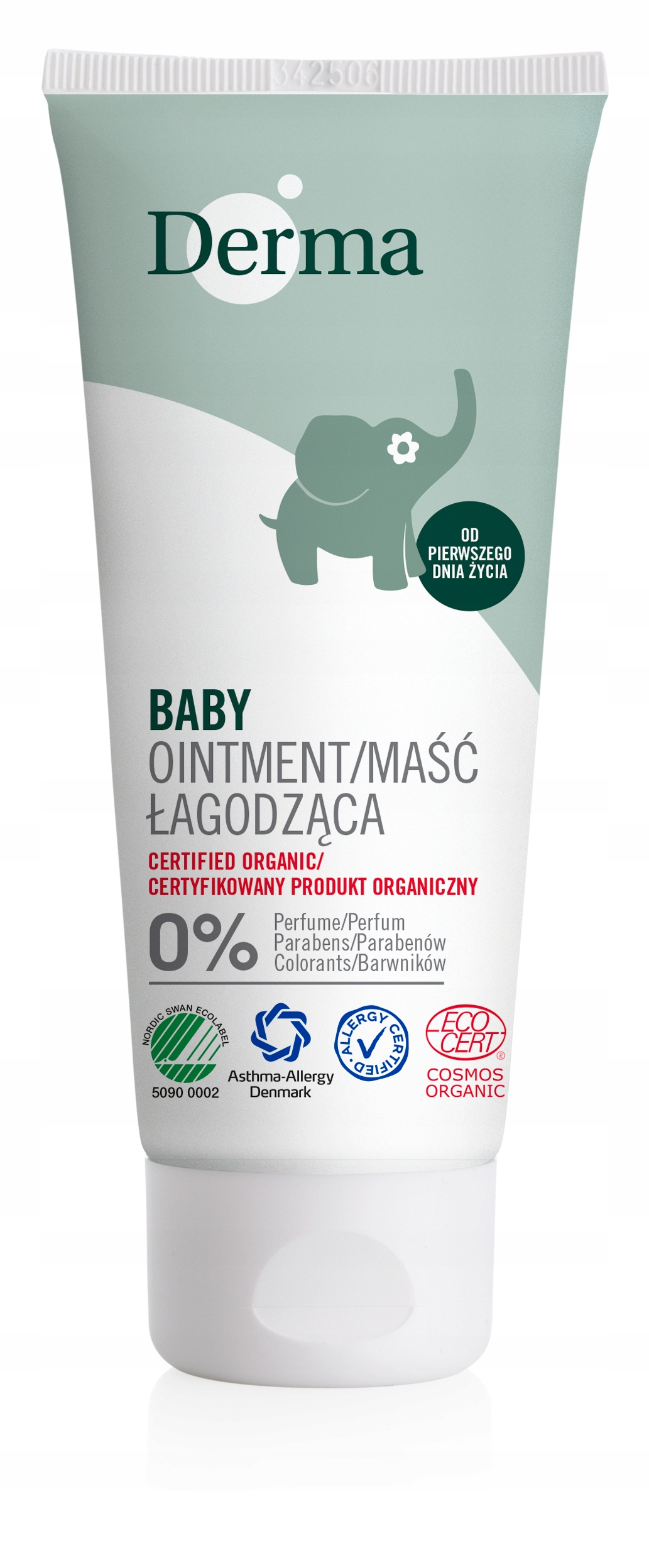 Item DERMA ECO BABY 99% NATURAL SOOTHING OINTMENT 100ml
