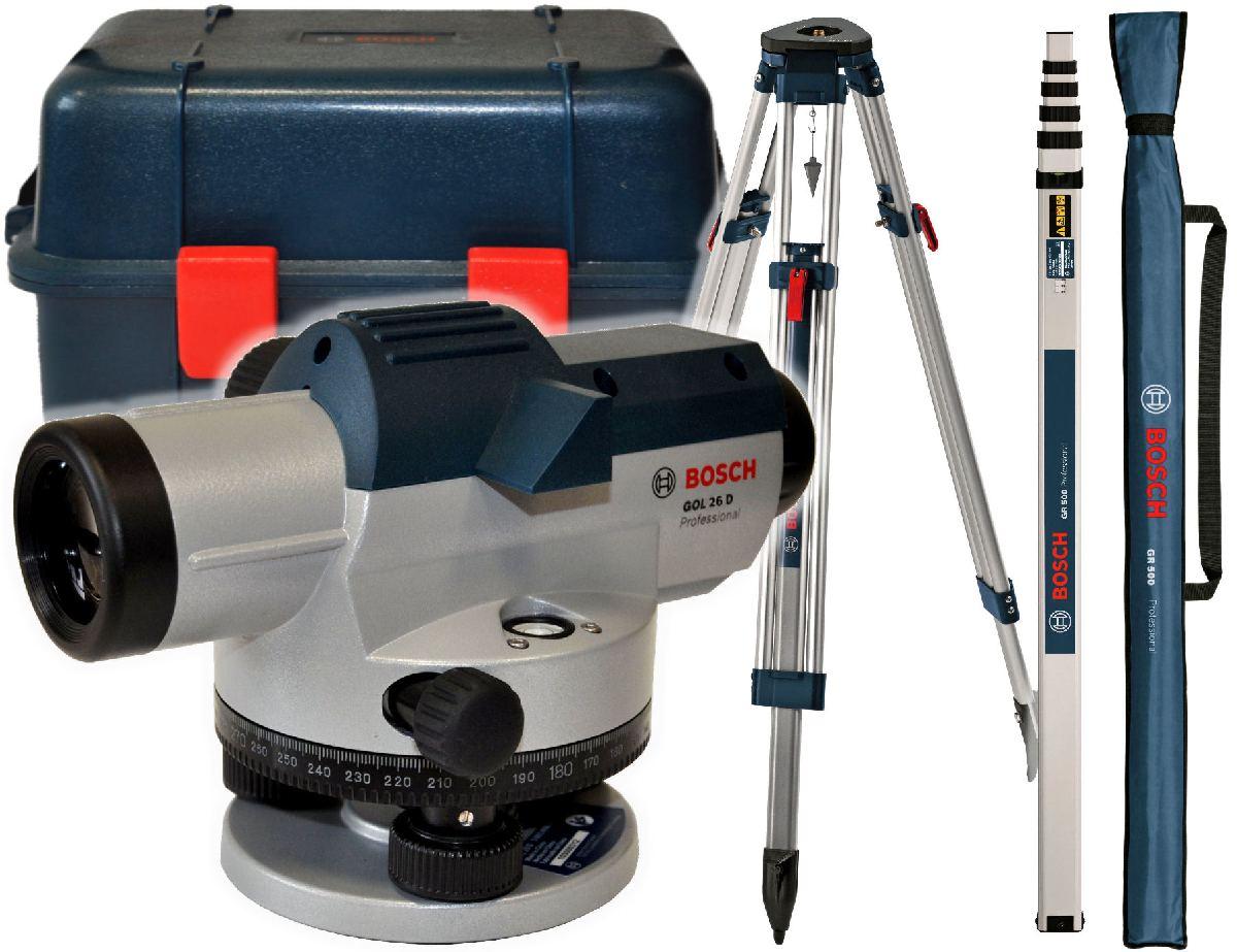 НИВЕЛИР оптический ГОЛ 26 D Bosch + РЕЙКА + ШТАТИВ