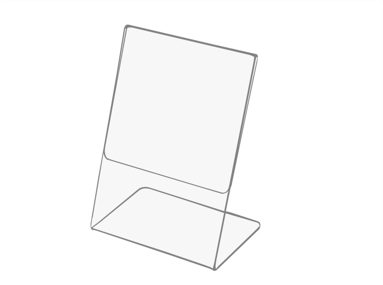 A4 Cenový stojan, popis, leták - ceny z plexi