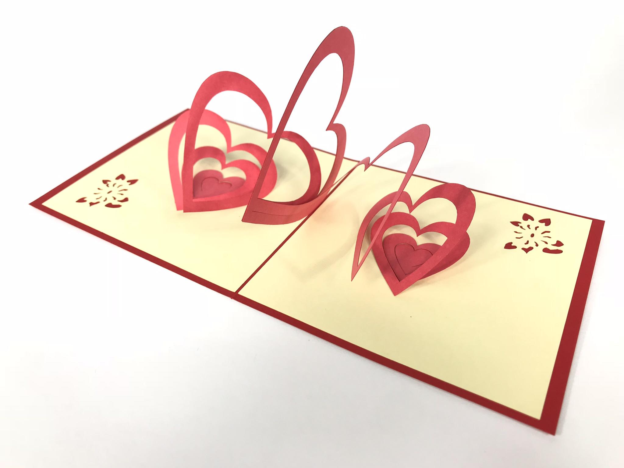 Спираль Сердец, Открытка 3d, подарок день святого instagram Любовь