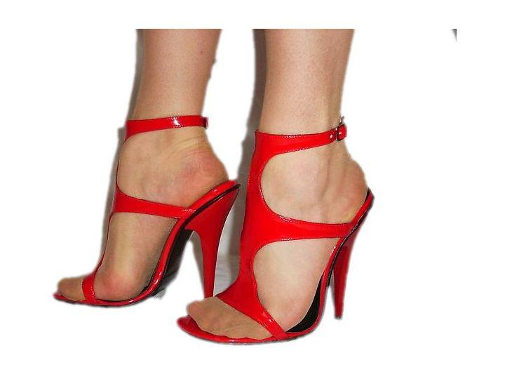Sandały lakierek obcas 13cm rozmiar 47 Bolingier
