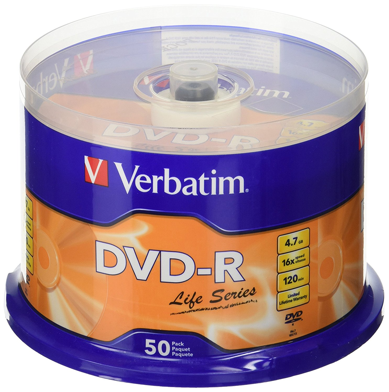 Item The discs are VERBATIM DVD-R 4,7 GB Cake 50 + marker Promoc