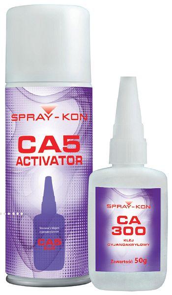 KLEJ CA300 Cyjanoakrylowy szybki + aktywator. 5s