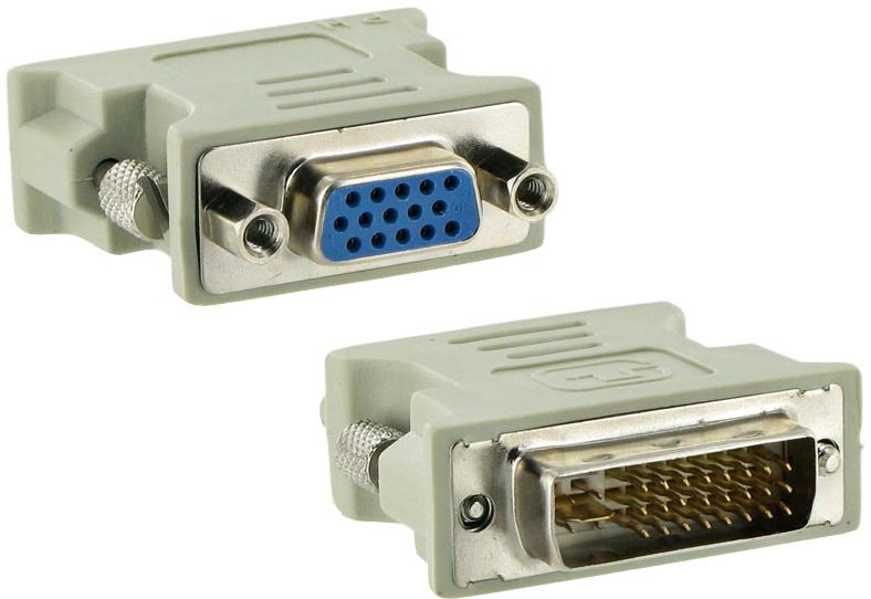 Przejściówka Adapter z DVI-I (24+5) na Vga (d-sub)